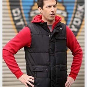 Andy Samberg TV Series Brooklyn Nine-Nine Jake Peralta Black Puffer Vest