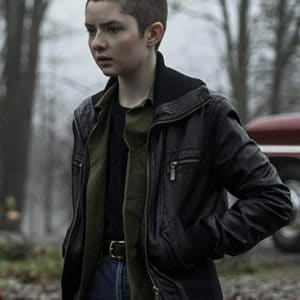 Lachlan Watson Black Bomber Chilling Adventures of Sabrina Leather Jacket
