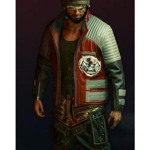 Cyberpunk 2077 Biker Leather Second Conflict Jacket