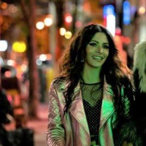 Sarah Shahi TV Series Sex/Life 2021 Silver Leather Jacket