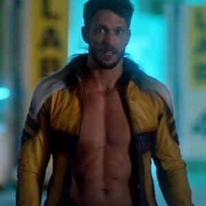 Chillblaine The Flash S07 Jon Cor Leather Jacket with Fur Shoulder