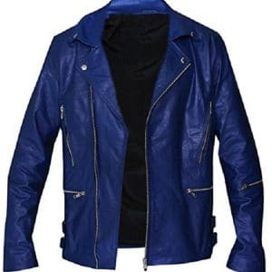 Rock Band 30 Seconds To Mars Jared Leto Blue Leather Jacket