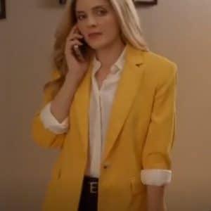 Maggie Coleman A Little Daytime Drama 2021 Yellow Blazer