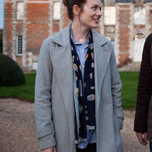 Maggie Around the Sun Cara Theobold Grey Wool Coat