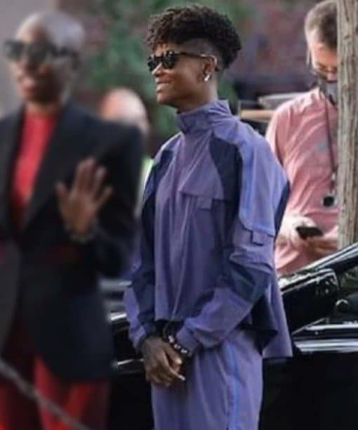 Letitia Wright Black Panther: Wakanda Forever 2022 Purple Cotton Jacket