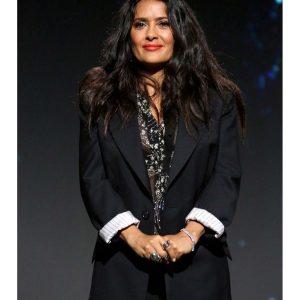 Salma Hayek FIlm Eternals Event Black Blazer