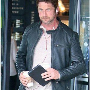 Gerard-Butler-Cafe-Racer-Black-Leather-Biker-Jacket