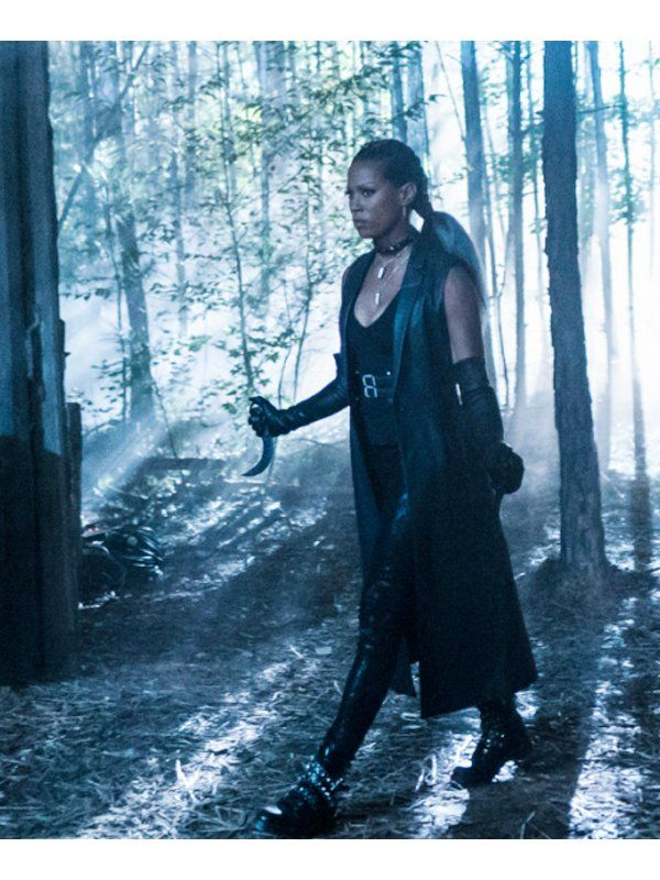 Kearran-Giovanni-Black-Lightning-Giselle-Cutter-Long-Black-Leather-Coat
