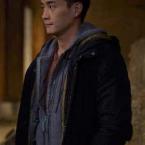Peter Adrian Sudarso Supergirl Season 6 Kenny Li Black Cotton Jacket
