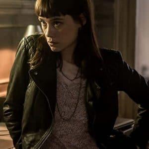 Astrid Bergès-Frisbey The Vault 2021 Lorraine Black Leather Jacket