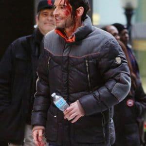 Morningstar Lucifer Season 06 Tom Ellis Puffer Jacket