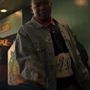 Mekai Curtis TV Series Power Book III: Raising Kanan 2021 Blue Denim Jacket