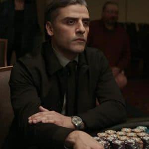 William Tell The Card Counter Oscar Isaac Black Cotton JacketWilliam Tell The Card Counter Oscar Isaac Black Cotton Jacket