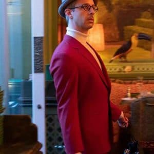 Jeremy Strong The Gentlemen Matthew Red Wool-Blend Suit