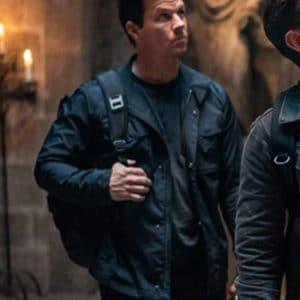Mark Wahlberg Uncharted 2022 Victor Sullivan Blue Cotton Jacket