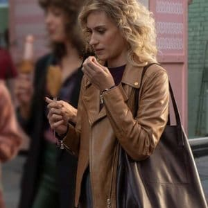 Teresa Riott TV Series Valeria S02 Nerea Brown Motorcycle Leather Jacket