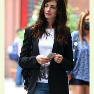 Rebekah Neumann TV Series WeCrashed 2022 Anne Hathaway Black Blazer