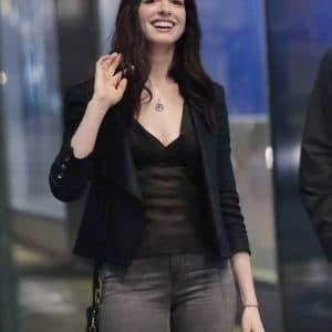 Wecrashed-Anne-Hathaway-Black-Jacket