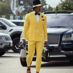 Stylish Cam Newton Yellow Tuxedo Suit