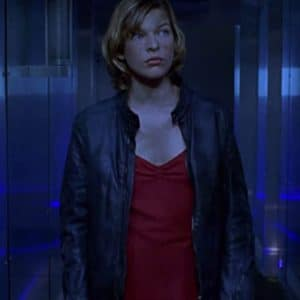 Milla Jovovich Resident Evil Black Leather Jacket