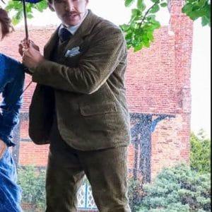Benedict Cumberbatch The Electrical Life Of Louis Wain 2021 Corduroy Blazer