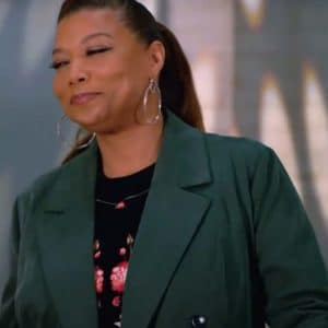 Queen Latifah The Equalizer Season 02 Robyn McCall Double-Breasted Green Coat